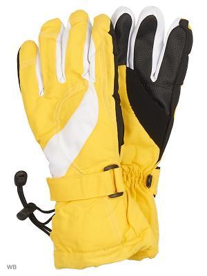 Перчатки Mini. Цвет: желтый