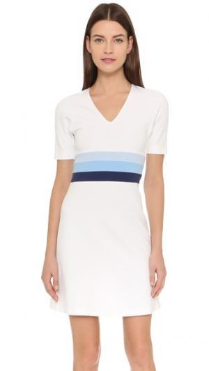 Платье с заниженной талией полосками Lisa Perry. Цвет: белый/бледно-голубой/безмятежный
