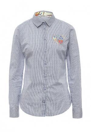 Рубашка Desigual. Цвет: синий
