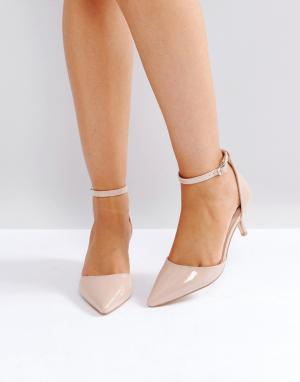 Raid Лакированные туфли на каблуке-рюмочке. Цвет: бежевый