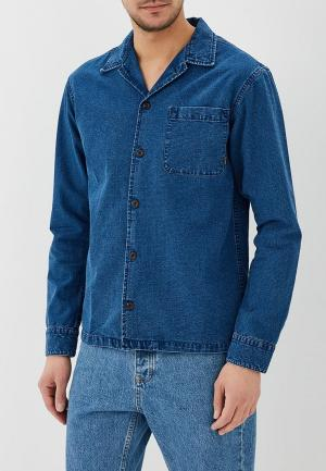 Рубашка джинсовая Quiksilver. Цвет: синий
