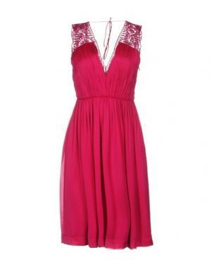 Платье до колена CATHERINE DEANE. Цвет: фуксия