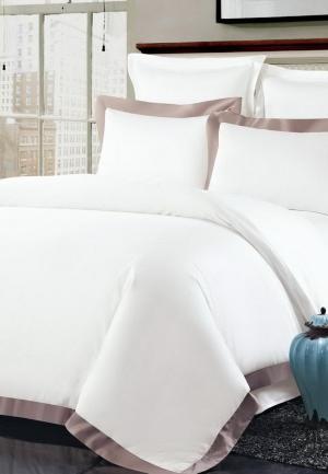 Комплект постельного белья Евро Sofi De Marko. Цвет: белый