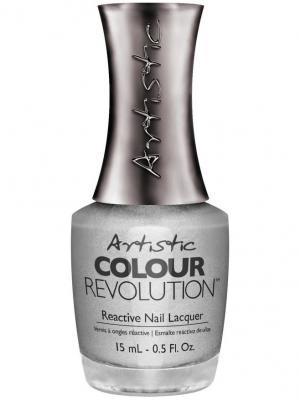 Лак для ногтей 099 TROUBLE Недельный ногтей, 15 мл Artistic Revolution. Цвет: серебристый