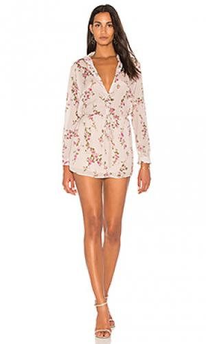 Цветочное платье-рубашка valentina Karina Grimaldi. Цвет: румянец