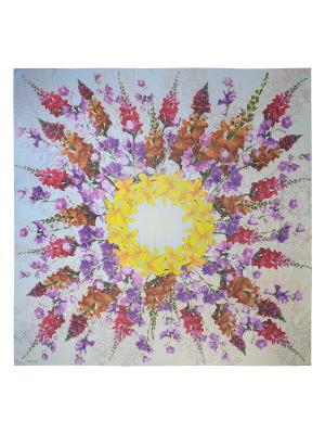 Платок Eleganzza. Цвет: сиреневый, желтый, малиновый, рыжий, светло-серый