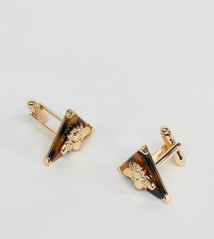 Reclaimed Vintage Золотистые запонки с камнями Inspired эксклюзивно дл. Цвет: золотой