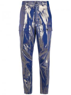 Lamé trousers Reinaldo Lourenço. Цвет: синий