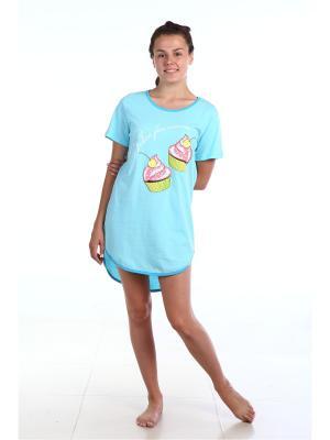 Ночная сорочка Pastilla. Цвет: бирюзовый