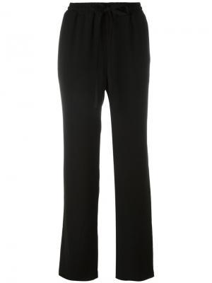 Свободные брюки с поясом на завязках Michael Kors. Цвет: чёрный