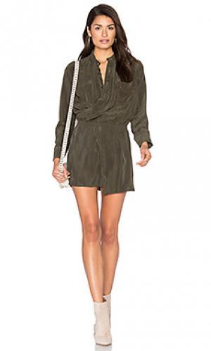 Платье x front Stillwater. Цвет: оливковый