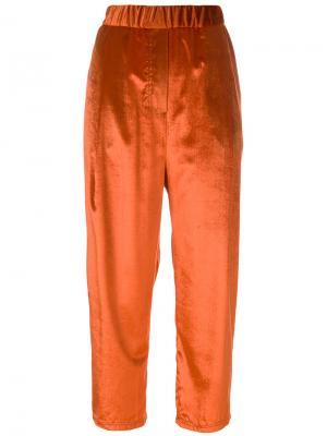 Свободные брюки Damir Doma. Цвет: жёлтый и оранжевый