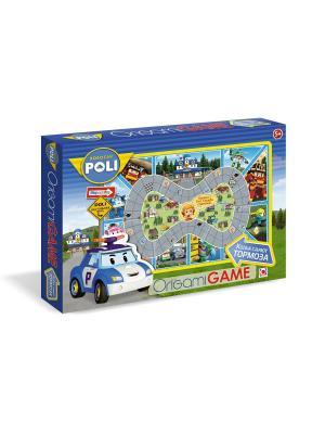 Настольная игра Робокар Поли Когда сдают тормоза с 3D пазлом-конструктором в комплекте. Robocar Poli. Цвет: синий, зеленый, розовый
