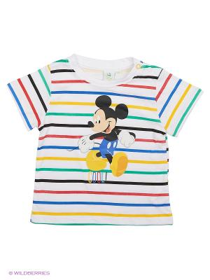 Футболка Mickey Mouse. Цвет: белый