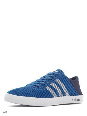 Кеды VS EASY VULC SEA  CORBLU/FTWWHT/CONAVY Adidas. Цвет: темно-синий, белый