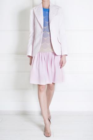 Юбка из вискозы Tata Naka. Цвет: пудрово-розовый