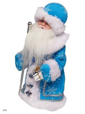 Дед Мороз музыкальный в голубой шубке (русская мелодия), 30см А М Дизайн. Цвет: темно-синий