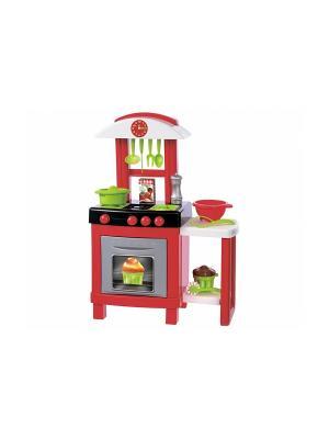 Кухня Chef Pro Cook, 56*28,5*75,5 см.,15 пр., 1/4 Ecoiffier. Цвет: зеленый, красный