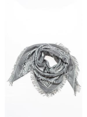 Платок FOMAS. Цвет: темно-серый, серебристый