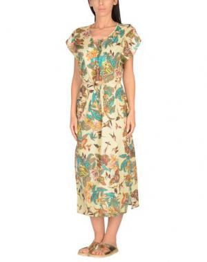 Пляжное платье 100X200 CENTOXDUECENTO. Цвет: бежевый