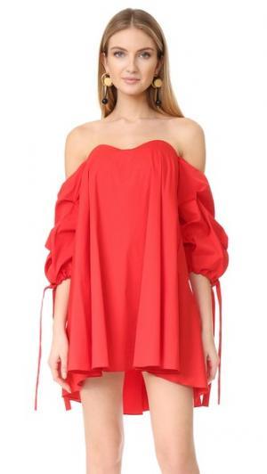 Платье Gabriella Caroline Constas. Цвет: красный