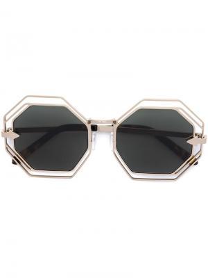 Солнцезащитные очки Emmanuel Karen Walker Eyewear. Цвет: коричневый