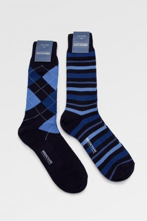 Носки (2 пары) 142863 Bresciani. Цвет: синий