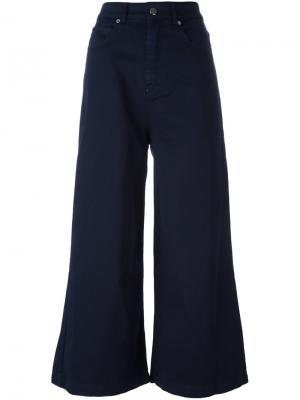 Широкие джинсы Each X Other. Цвет: синий