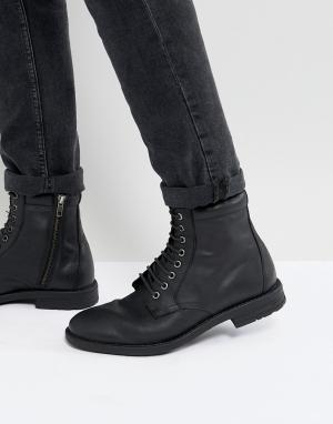 KG Kurt Geiger Черные ботинки на шнуровке в стиле милитари By. Цвет: черный