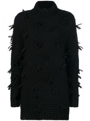 Ворсистый вязаный свитер Simone Rocha. Цвет: чёрный