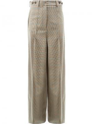 Широкие брюки в ломаную клетку Rokh. Цвет: телесный