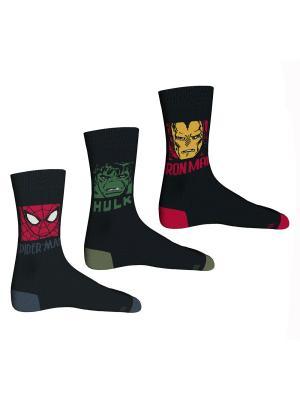 Носки 3 пары Master Socks. Цвет: красный, серо-голубой, хаки