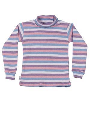 Водолазка с начесом МИКИТА. Цвет: голубой, фиолетовый, розовый, белый
