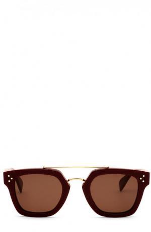 Солнцезащитные очки Céline Eyewear. Цвет: бордовый