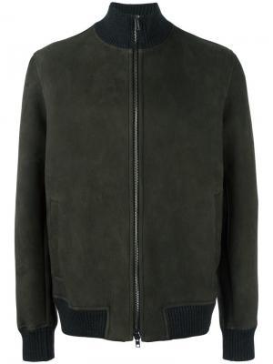 Куртка бомбер на молнии Salvatore Santoro. Цвет: серый