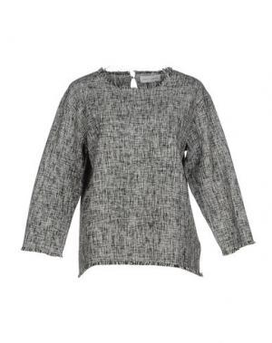 Блузка WEILI ZHENG. Цвет: черный
