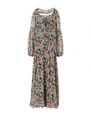 Длинное платье FEMME by MICHELE ROSSI. Цвет: кирпично-красный