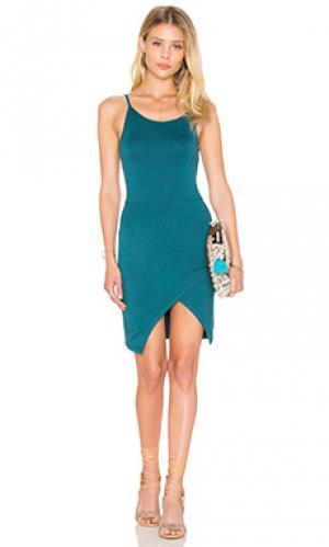 Платье isla De Lacy. Цвет: сине-зеленый