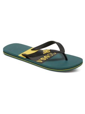Шлепанцы DC Shoes. Цвет: зеленый
