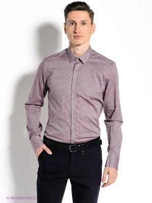Рубашка MONDIGO. Цвет: бледно-розовый, черный