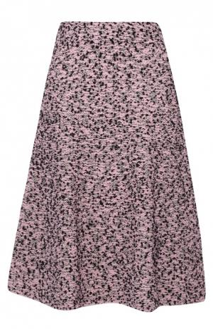 Буклированная юбка А-силуэта с широким поясом M Missoni. Цвет: светло-розовый