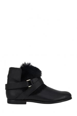 Ботинки с мехом Newbark. Цвет: черный