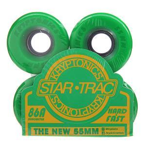 Колеса для скейтборда лонгборда  Star Trac Premium Green 86A 55 mm Kryptonics. Цвет: зеленый