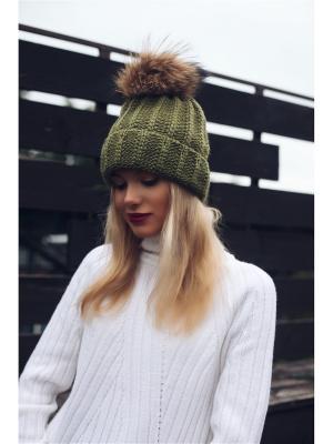 Шапка Wooly's. Цвет: зеленый