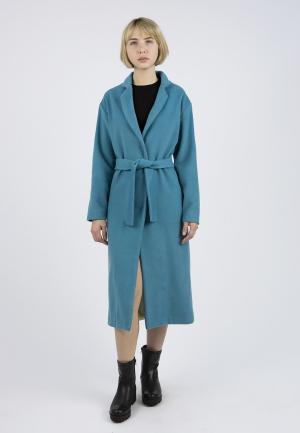 Пальто Monoroom. Цвет: бирюзовый