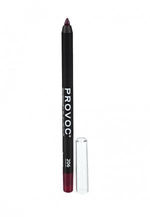 Карандаш для губ Provoc. Цвет: бордовый
