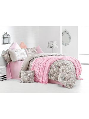 Комплект постельного белья MISS PERA ранфорс, 145ТС, евро ISSIMO Home. Цвет: розовый