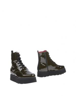 Полусапоги и высокие ботинки 181 by ALBERTO GOZZI. Цвет: зеленый-милитари
