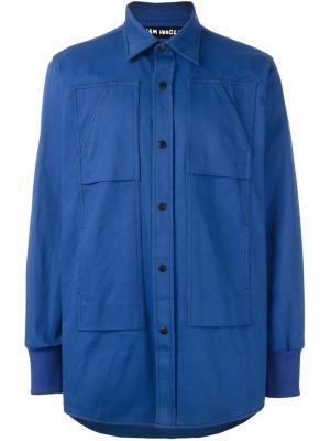 Многослойная куртка Liam Hodges. Цвет: синий