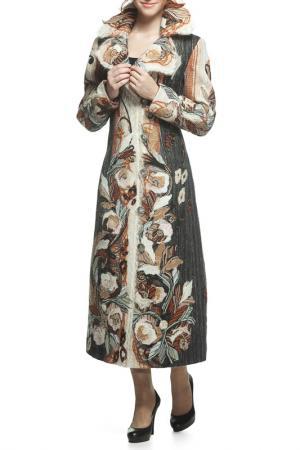 Пальто Yuko-Selena. Цвет: коричневый